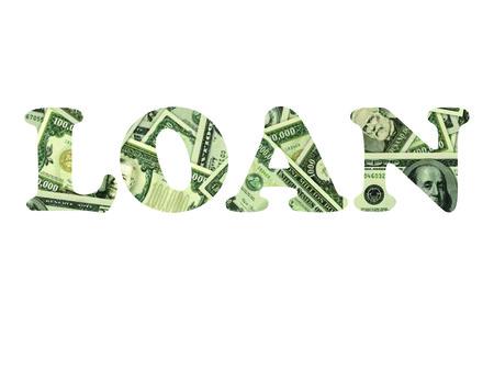 LOAN SHOWN IN TEXT FORMAT Reklamní fotografie