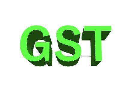 GOODS AND SERVICE TAX 免版税图像