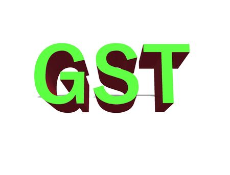 GOODS AND SERVICE TAX Stock Photo
