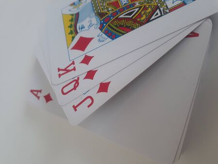 Playing cards full deck and white background
