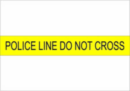 Police line do not cross illustration