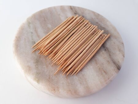Close up of wooden toothpic