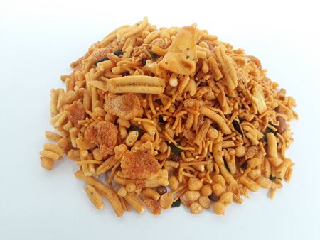Farsan mix chiwda made of chana dal, green peas and cereals Standard-Bild