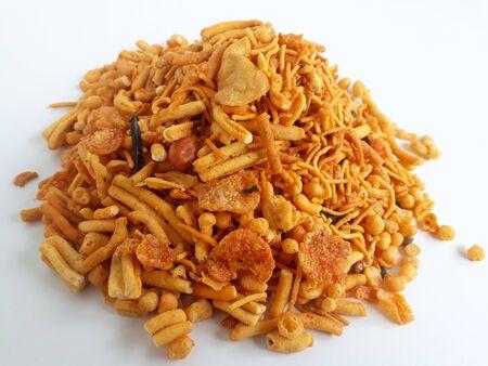 Farsan mix chiwda made of chana dal, green peas and cereals