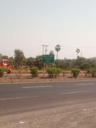 Banner of toll board on highway