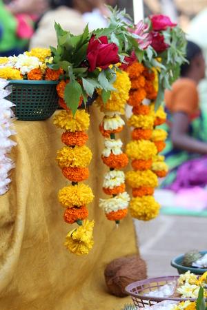 Flowers in market Stock Photo