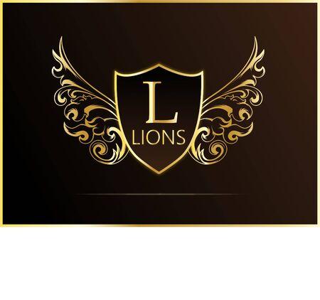 Luxury logo designing with gradients.