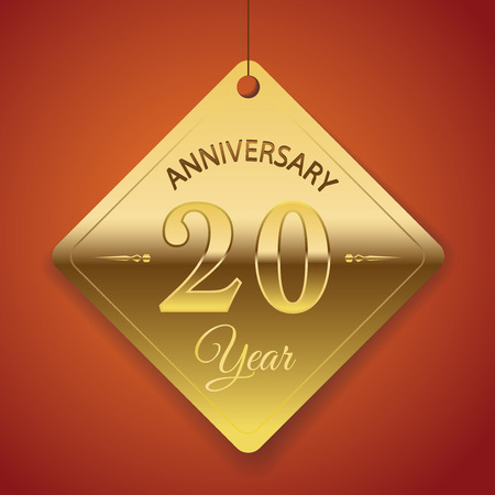 20th: 20th Anniversary poster   template  tag design Vector Background Illustration