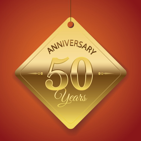 50 years jubilee: 50th Anniversary poster   template  tag design Vector Background