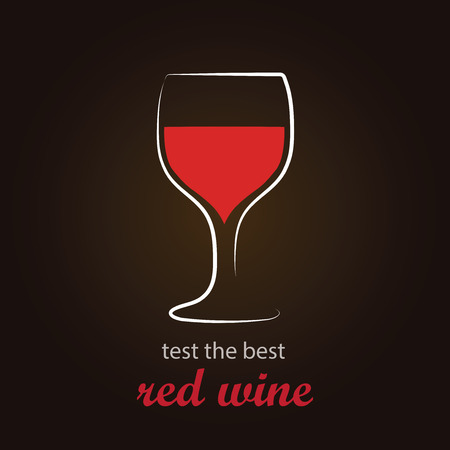 stimulate: Red Wine in Wine Glass   Stylish and minimalist vector background