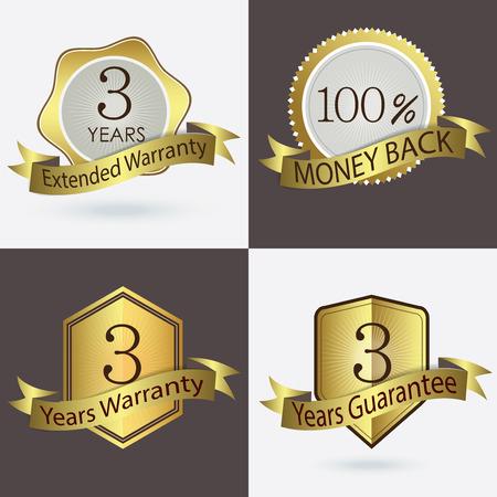 estendido: 3 anos de garantia Garantia Garantia estendida 100 Cash Back Ilustração