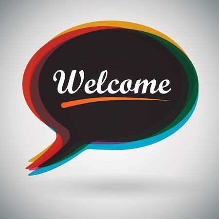Speech Bubble - Welcome