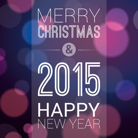 ambiance: Merry Christmas and Happy New Year 2015 - Poster , Template , Background Design
