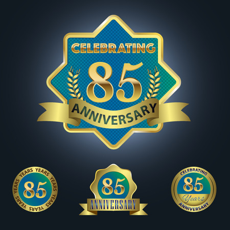 Celebrating 85 Years Anniversary - Blue seal with golden ribbon