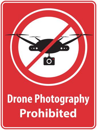 privacidad: Cartel 'Drone Fotografía Prohibida'