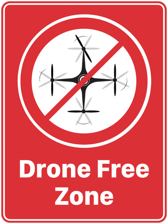 'Drone Free Zone' Poster 일러스트
