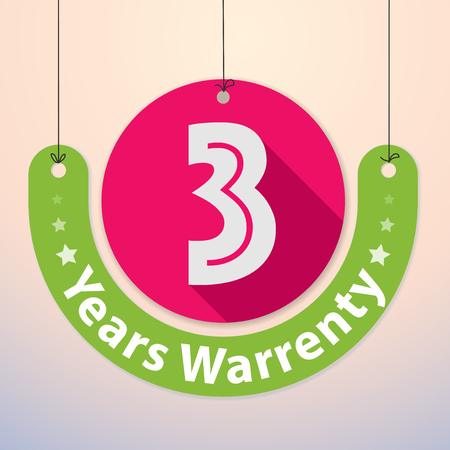 incorporation: 3 years Warranty Colorful Badge, Paper cut-out