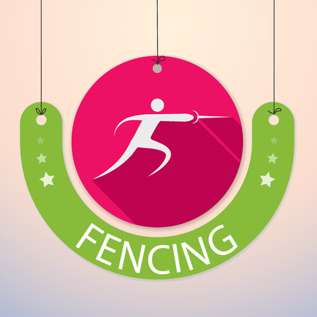 Fencing - Colorful Paper Tag for Sports