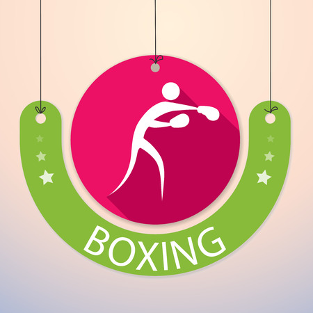 Boxing - Colorful Paper Tag for Sports