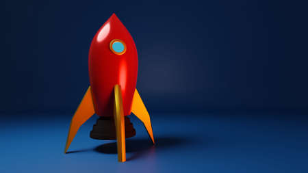 Rocket, Spacecraft, Toy Rocket, Science Background, Space Exploration - 3D Illustration