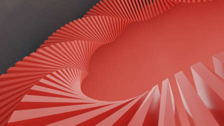 Abstract Minimal Wave Background. Colorful Abstract Architecture structure. 3D illustration.
