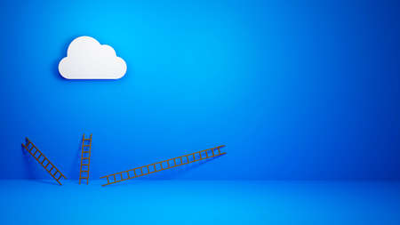 cloud computing concept, Cloud Error, 404 error, Incident, Downtime, Presentation Concept, 3D illustration background
