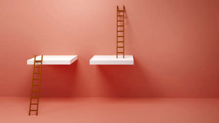 Ladder of Success, Winner, Opportunity, Inequality, Concept for presentation, 3D illustration background