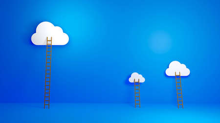 Cloud Computing, Equal Opportunity, Success - Concept background for presentation. 3D illustration.