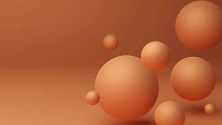 Round Shapes, Atom, Abstract background with 3d geometric shapes. Modern cover design. 스톡 콘텐츠