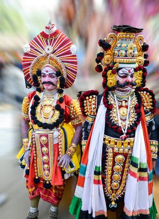 Traditional folk dance of karnataka called Yakshagana India south