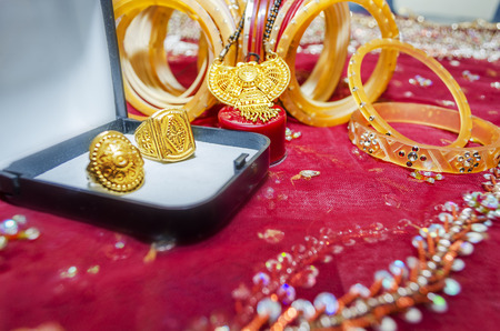 bride bangle: Indian wedding day accessories bangles rings  and gold  jewellery