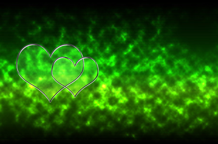 abstract pattern background two heart shapes photo