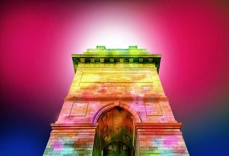 monument in india: india gate historical monument at new delhi india asia