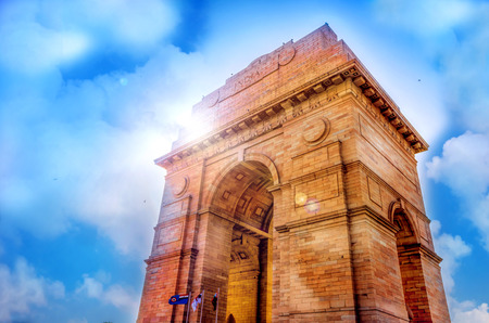 india gate historical monument at new delhi india asia photo