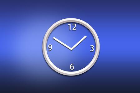 orologio da parete: astratto orologio da parete analog su sfondo blu