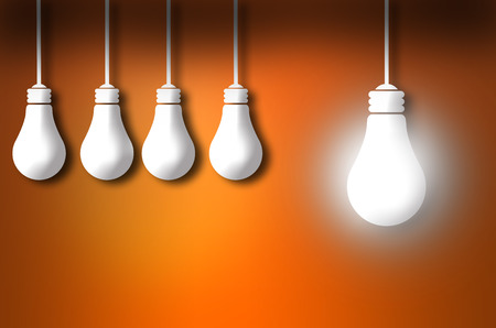 standout: standout idea bulb concept isolated on color background