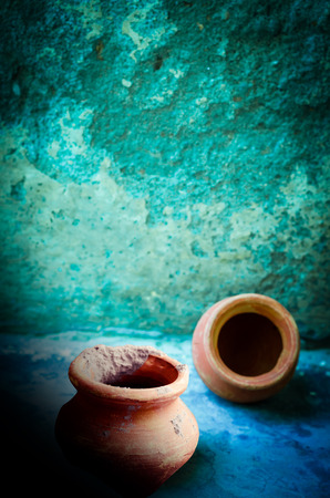 earthen: abstract dramatic earthen pots background
