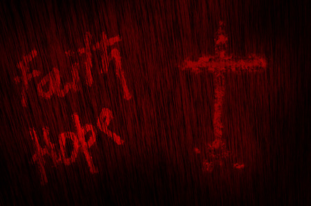 christanity: faith hope god blood texture background