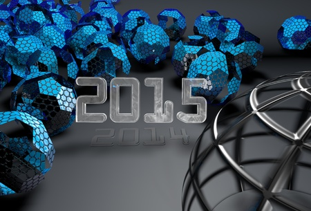 dimond: 2015 3d futuristic background 2014 in shadow