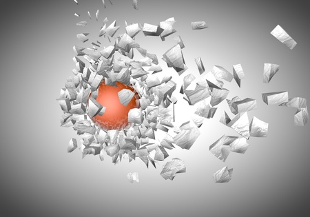 exploding sphere abstract 3d shpaes background photo