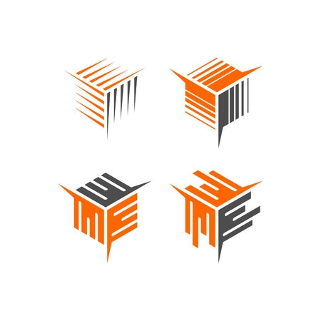 abstract cube  logo Vector illustration.