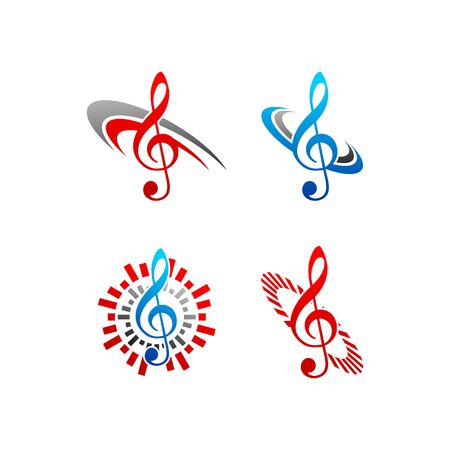 music note vector logo
