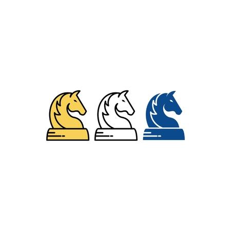 Horse chess symbol icon design.