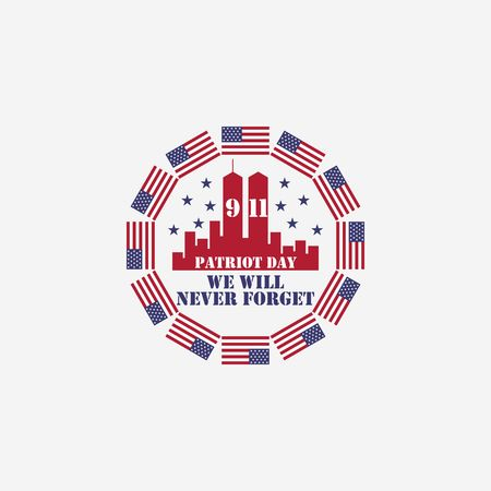 american memorial patriot day vector illustration template