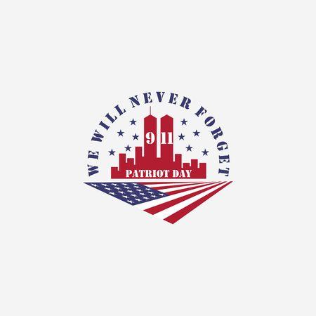 american memorial patriot day vector illustration template