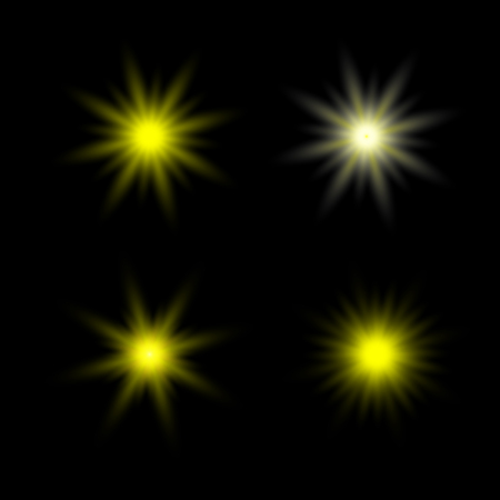 sun rays vector. Yellow sun ray glow abstract shine light effect starburst. sunshine glowing Иллюстрация