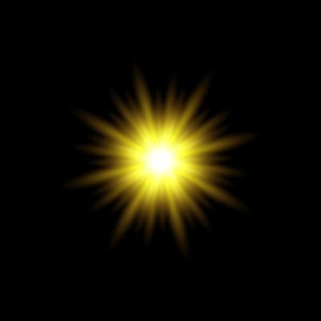 sun rays vector. Yellow sun ray glow abstract shine light effect starburst. sunshine glowing Illusztráció