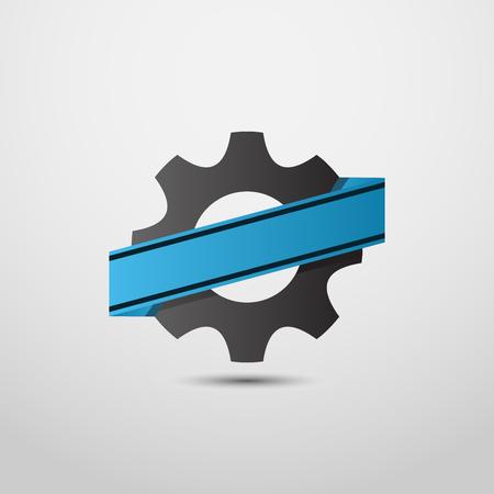 gear logo, industry symbol logo. motor sport logo, logo workshop. dealer logo, logo truck, mechanical logo. Illusztráció
