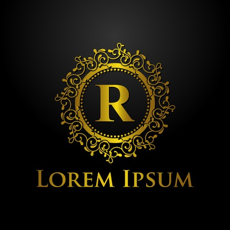 luxury letter r logo Illustration