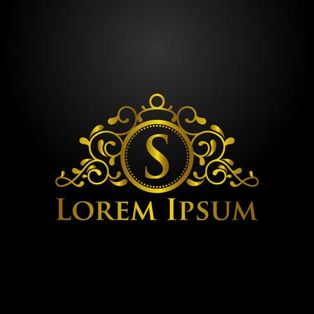 logo della lettera s di lusso